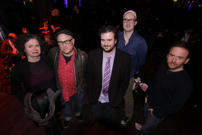 With Judith Lucy, Bobcat Goldthwait, Shannon Marinko and Adam Zwar at the Melbourne International Film Festival (photo credit: Tamasein Holyman)