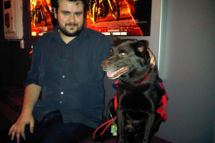 Chatting with Koko from Red Dog (photo credit: Inge Burke)
